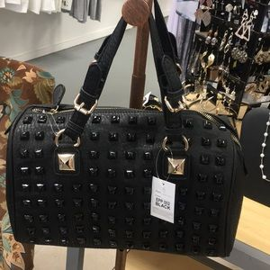 Black Studded Fashion Handbag